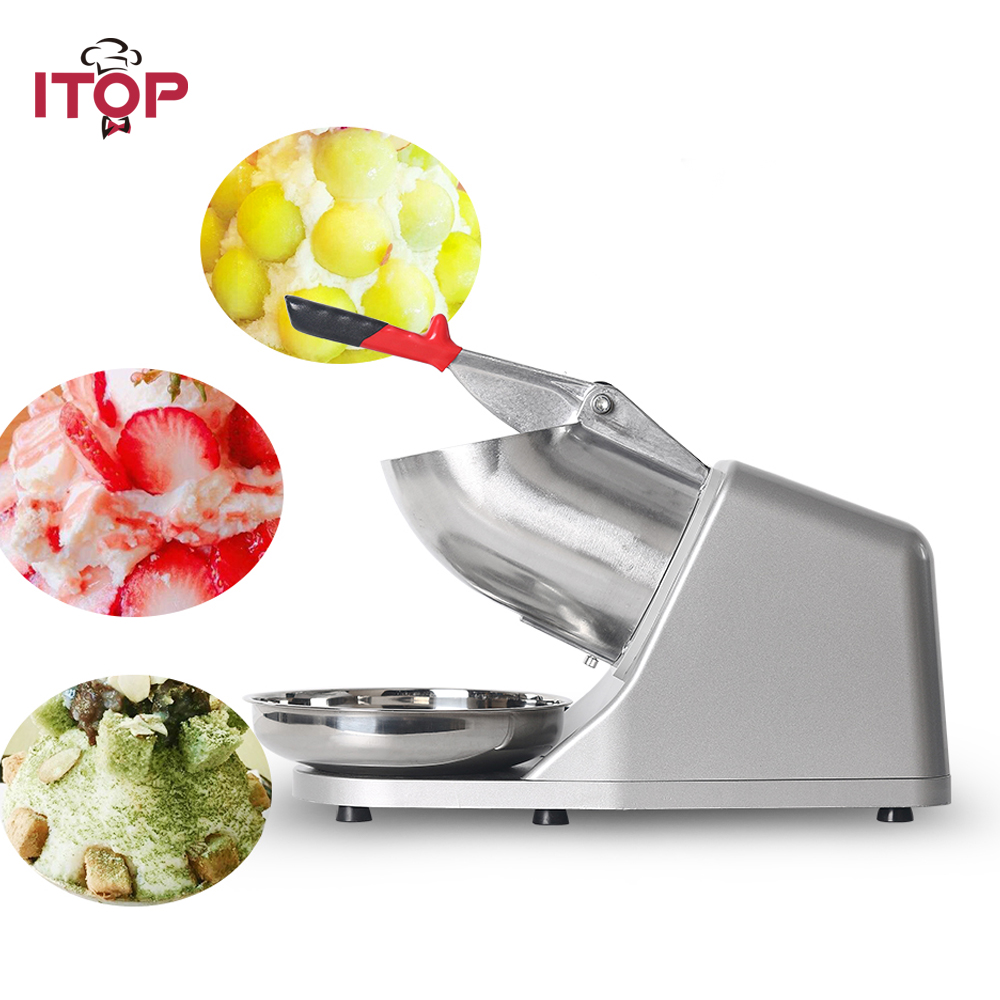 ITOP Electric Ice Crusher, Ice Shaver Machine, Snow Cone Maker, Shaved Ice Machine, 110V/220V/240V UL/UK/EU plug цены онлайн