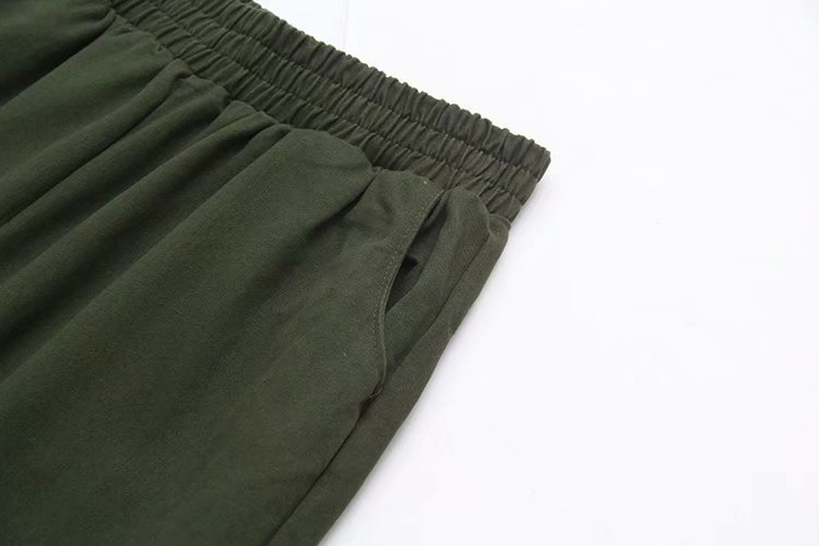 Women Cargo Pants Plus Size XXXL Army Green Black Elastic Waist Casual Loose Harem Pants Trousers KKFY3110 in Pants amp Capris from Women 39 s Clothing