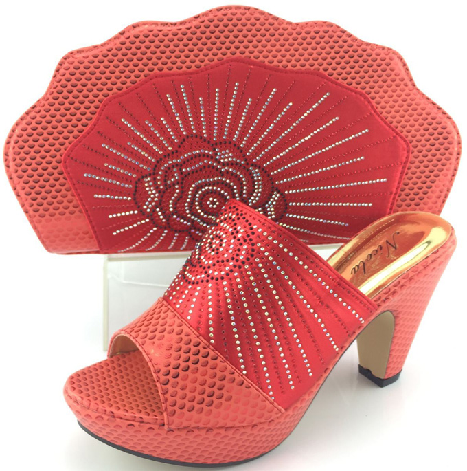 ФОТО Top Quality African Shoes High Heels And Bag Beauty Italian Shoes And Bag Set With Full Stones!HJY1-45