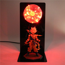 Dragon Ball Z Goku Action DIY Figures Lamp Anime Model Table Lamp Baby  Dolls LED Night Light For Children Gift Kids Toys Lights