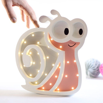 2019 European Exclusive Custom Cartoon Snail Nightlight LED Lamp Wall Decoration Children Room Decorations Desktop Ornaments