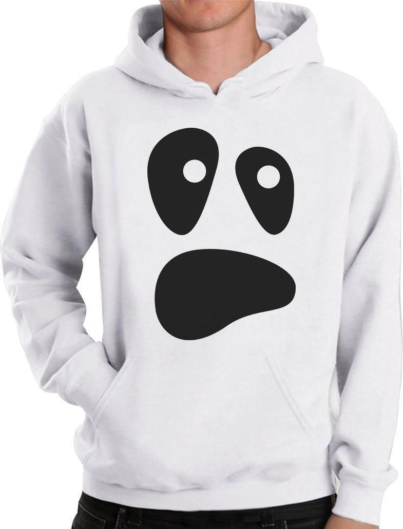 Halloween Ghost Costume Funny Ghoul Face Hoodie Spooky Unique Sweatshirt Unisex Hoodie-Z125