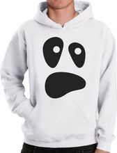 Halloween Ghost Costume Funny Ghoul Face Hoodie Spooky Funny Unique Sweatshirt Funny Unisex Hoodie-Z125 halloween cartoon ghost print sweatshirt