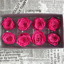 1 коробка Высокое качество вечные цветы цветок бессмертная Роза 4 см диаметр вечная жизнь цветок Материал Подарочная коробка подарок ко дню матери