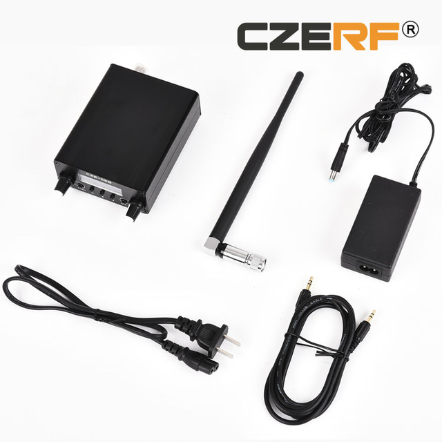 LCD Display PLL 76MHz 108MHz 0 1 0 5W FM Stereo Broadcast Transmitter Antenna Power Adapter