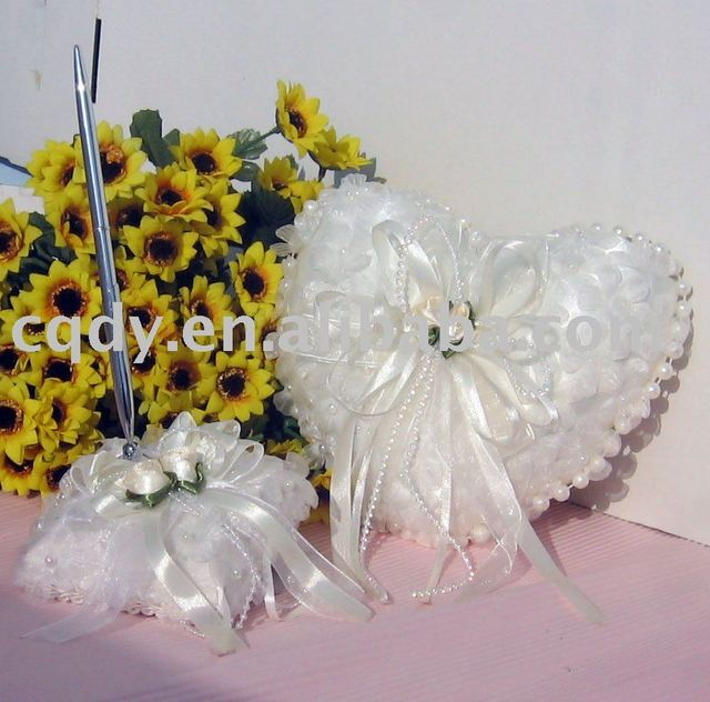 Free shipping wedding accessories/Wholesale wedding ring pillow