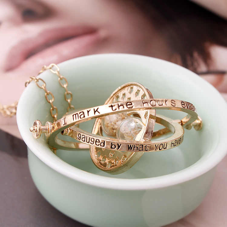 2019 Top Kwaliteit Hot Selling Harry ketting time turner ketting zandloper Potter Ketting Hermelien Griffel Rotating Spins