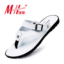 Flip Flops Men Sandals Summer Slip-on Shoes For Casual Walking Seaside Beach Breathable Slides Men's Brand Designer Flats 2016