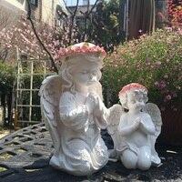 Amerikan Ülke Reçine melek bibloları Ev Mobilya Dekorasyon El Sanatları Doğum Günü Düğün Hediyeleri Şanslı Süs Ev Heykeli Sanat Heykelcikler ve Minyatürler    -