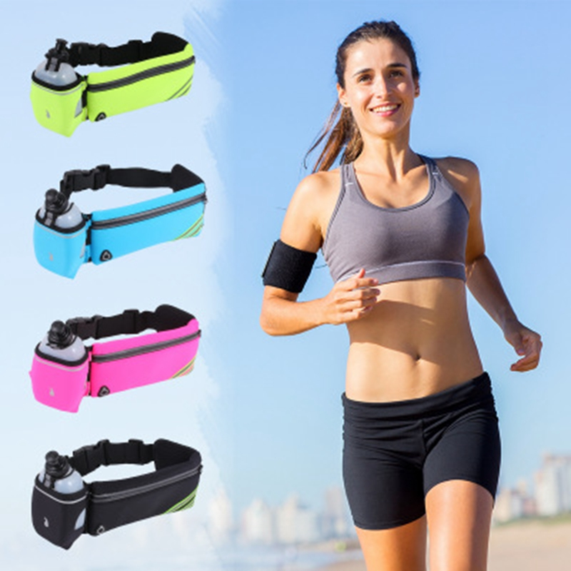 Outdoor <font><b>running</b></font> bag sports water bottle storage bag waterproof <font><b>cell</b></font> <font><b>phone</b></font> pockets invisible multi-purpose marathon <font><b>belt</b></font> storag