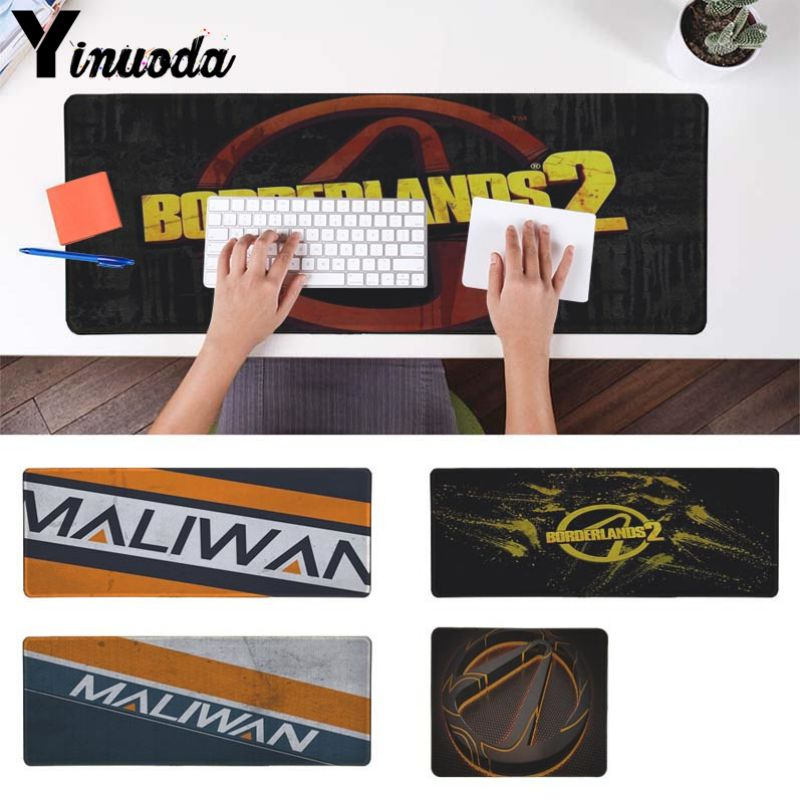 Yinuoda Beautiful Anime Maliwan Borderlands Customized Laptop Gaming Mouse Pad Mouse Keyboards Mat Mousepad For Boyfriend Gift