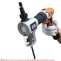 Electric Nibbler & Jig Saw Horizontal Drill Converter For Multi function Curve Cutter DIY Wood Cutting Machine Woodwooking Tools