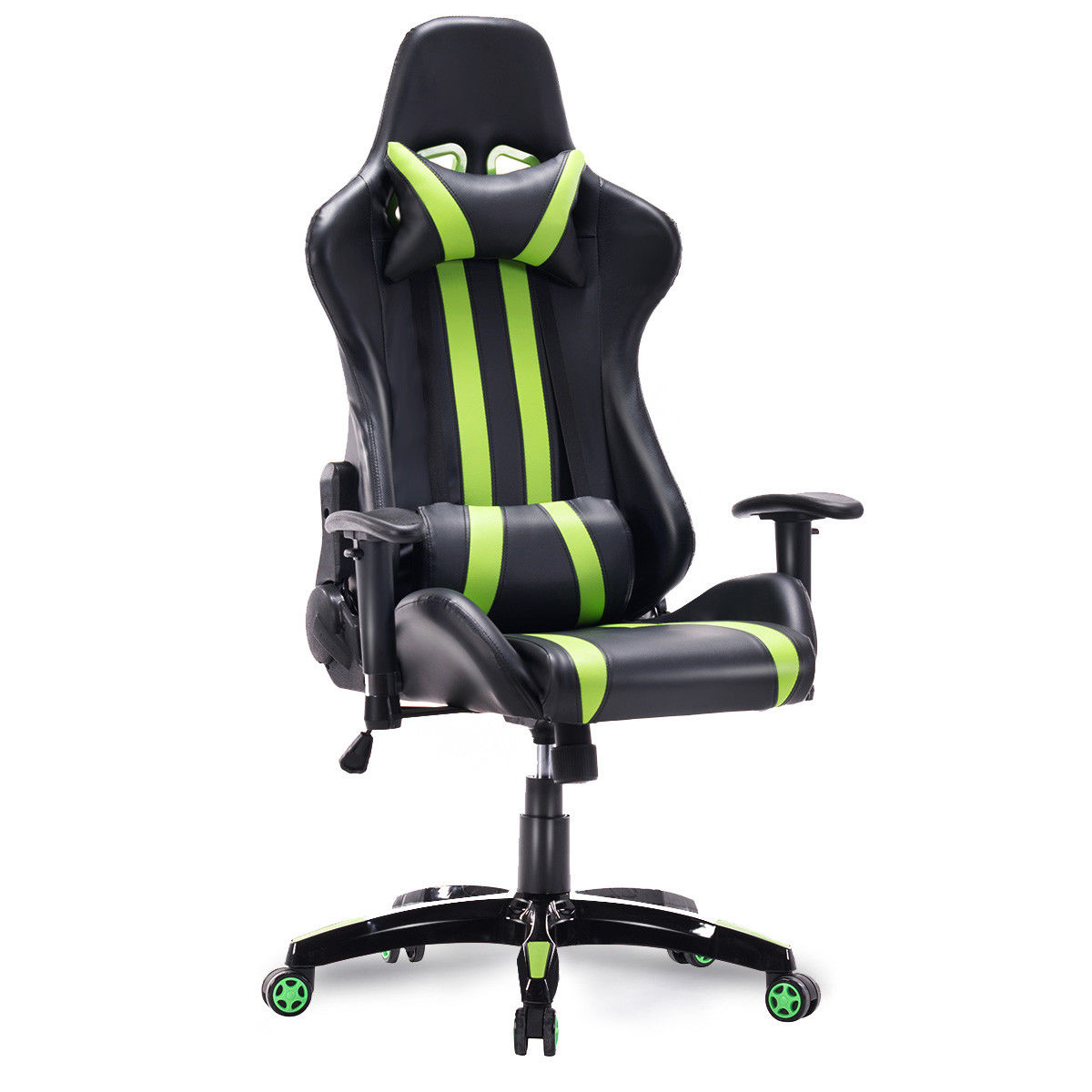 Giantex High Back Racing Style Reclining Chair Modern Ergonomic Gaming Chair Adjustable Office Computer Armchairs HW55211GN
