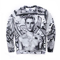 New Fashion Men's 3d Hoodies Hip Hop Justin Bieber Printed Sweatshirt Mens Kanye West Hoodie Funny basic Suit For Men Dropship