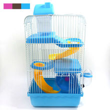 New Hot Sales high quality plastic multi-colored castle heightening pet hamster cage hamster cage for travel free shipping