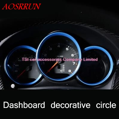 цена на Car dashboard decorative light strip three kinds of colors for PORSCHE Macan S turbo cayenne Panamera S car-styling 3D sticker