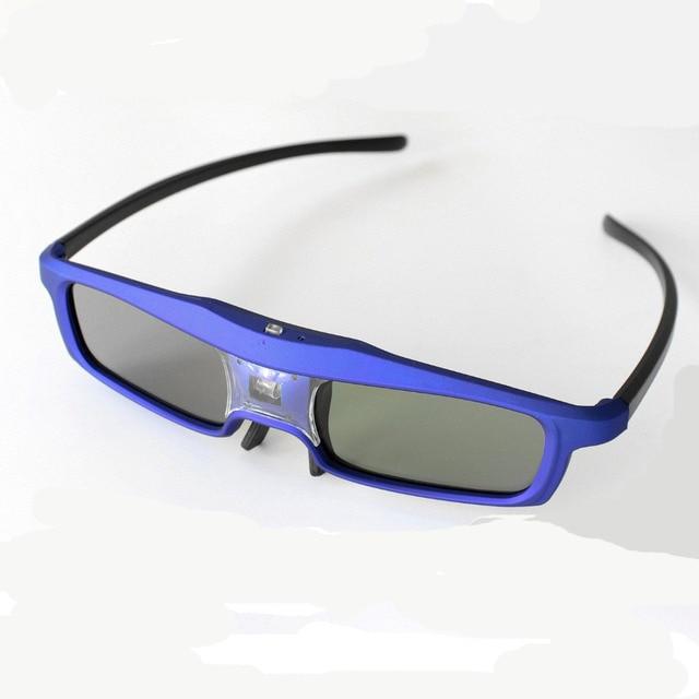 Синий 144 Гц 3D ИК Активные Аккумуляторные Затвора Очки для Acer BenQ ViewSonic Vivitek Optoma 3D DLP-Link Готовые проектор (синий)