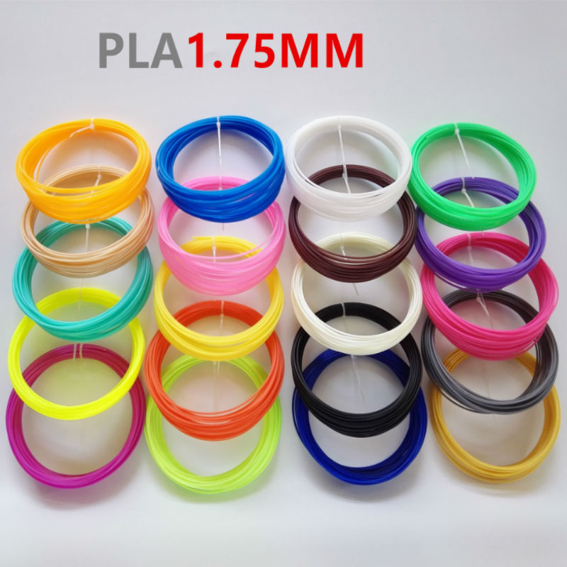 5 colors(10 meters/color) 1.75 mm PLA print material 3D special filament for 3D pen 3D printer supplies random free shipping