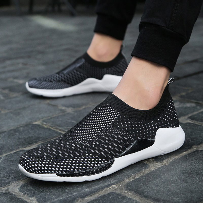 Men Casual Shoes Lightweight Breathable Flats Men Shoes footwear loafers Zapatos Hombre Full Mesh Shoes Men chaussure homme Size
