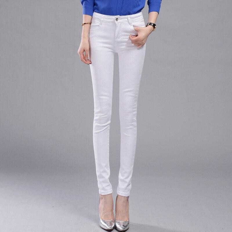 1006 female Korean manufacturers shot high waisted jeans feet pencil pants black and white denim trousers wholesalers sbart upf50 rashguard 2 bodyboard 1006
