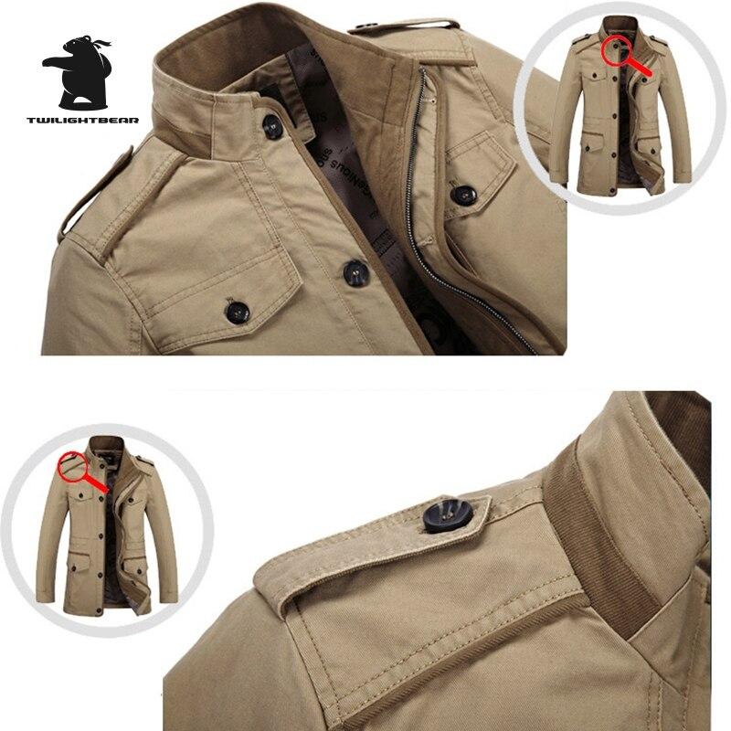 Новый Для мужчин; повседневная куртка со стоячим воротником Демисезонный моды мыть хлопок плюс Размеры длинная куртка пальто Для мужчин пи...