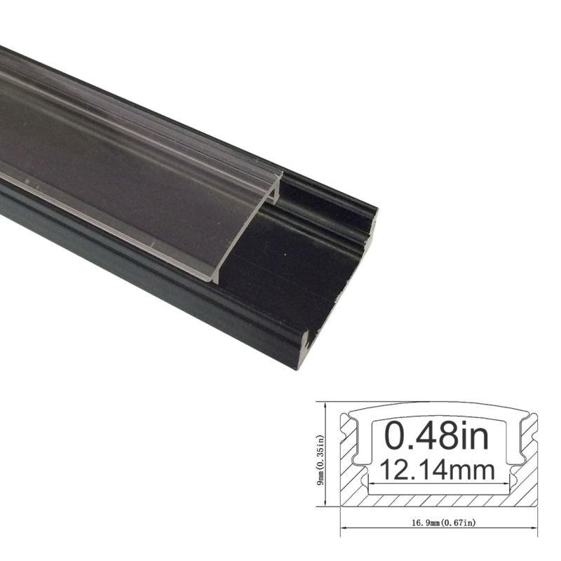 3.3Ft / 1M 10 Paket Açıq LED Alüminium Profili U Shape 12mm - LED işıqlandırma - Fotoqrafiya 2