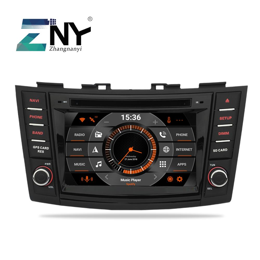 7 Android 9.0 Car DVD For Suzuki Swift 2011 2012 2013 2014 2015 Radio RDS WiFi Stereo Audio Video GPS Navigation Reverse Camera