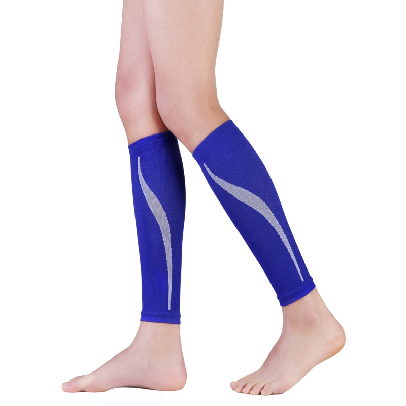 1Pair Calf Support Graduated Compression Leg Sleeve Sports Socks Outdoor Exercise Leg Braces