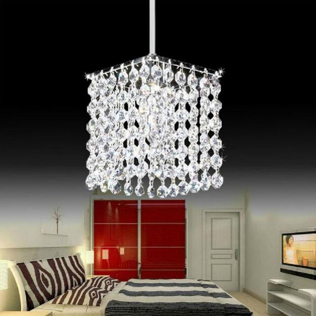 Modern simple iron crystal chandelier led lamp high quality LED lighting crystal chandeliers led E27 lustre pendant/droplight