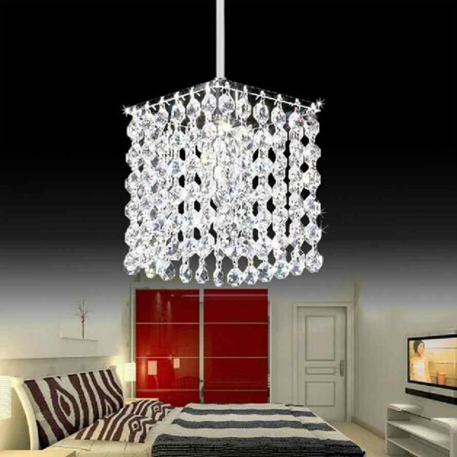 Moderne einfache eisen kristall kronleuchter led lampe hohe qualität LED beleuchtung kristall kronleuchter led E27 glanz anhänger/droplight
