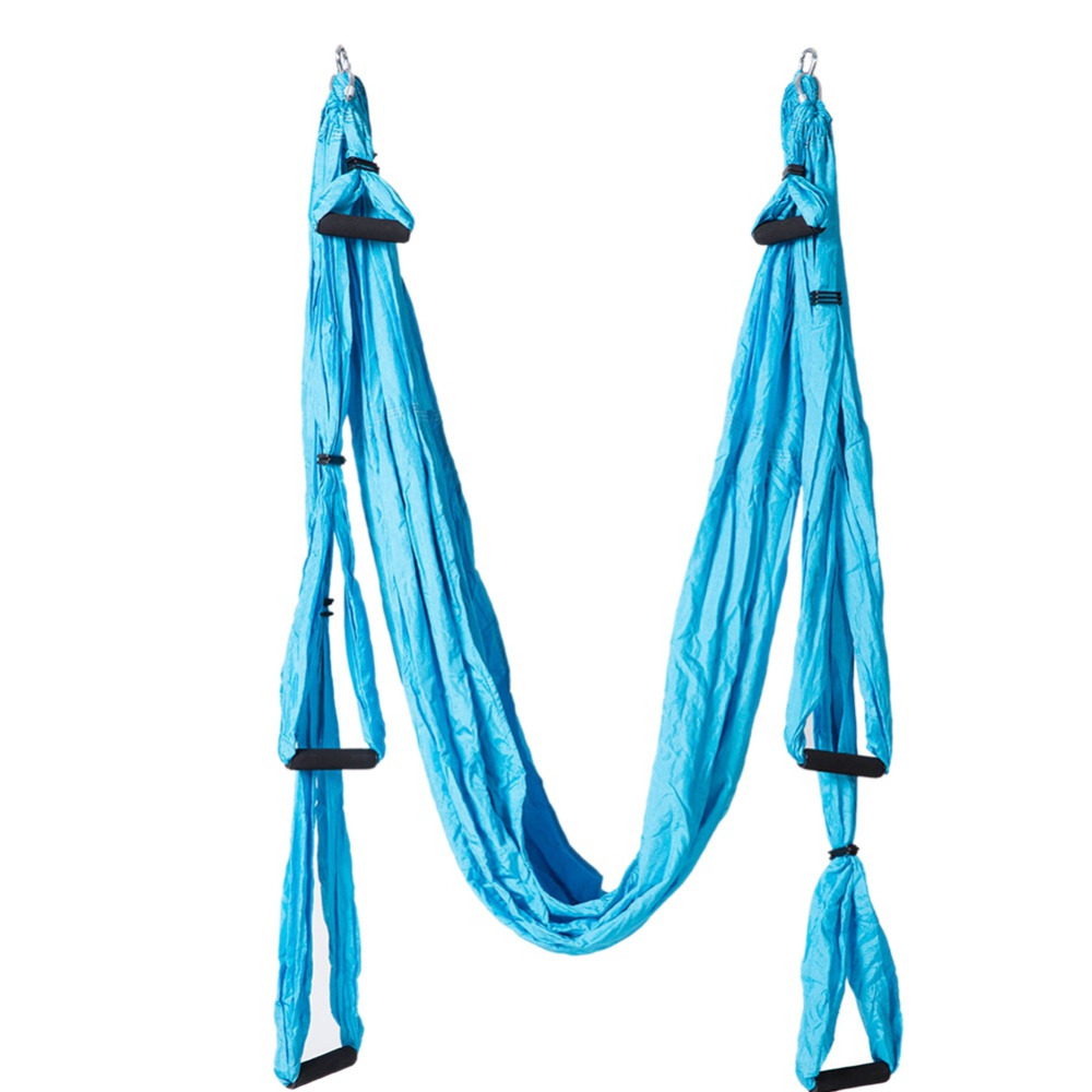 Sports & Entertainment Lower Price with 6 Colors Anti-gravity Aerial Traction Yoga Gym Strap Strength Decompression Yoga Hammock Inversion Trapeze Yoga Swing Set