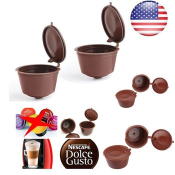 Cafe Reusable Coffee Capsule For All Nescafe Dolce Gusto Models Refillable  Filters Baskets Pod Soft Taste Sweet