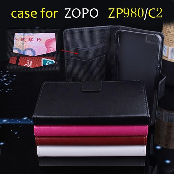 ZOPO ZP980 C2 cas couverture, bonne Qualité Cas En Cuir + dur de couverture Arrière Pour ZOPO ZP 980 C2 téléphone portable En Stock