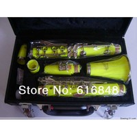 Factory Wholesale 17 Key Bakelite Clarinet In B Flat Surface Yellow Stock
