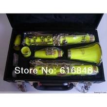 factory Wholesale–17 key bakelite clarinet green in B flat surface yellow Stock
