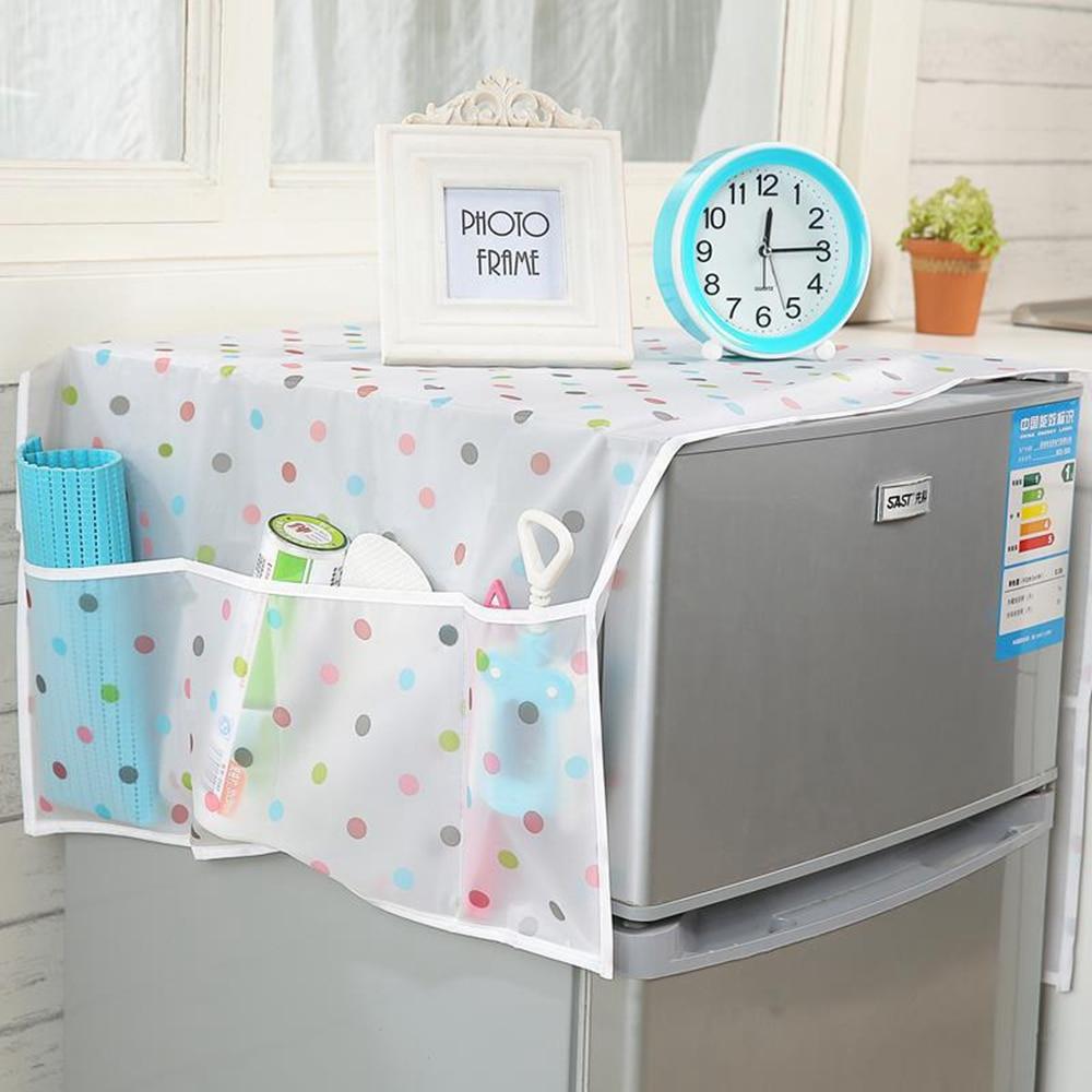 Cotton Fabric Fridge Dust Cover Sundry Storage bag organizerHousehold Merchandises Accessories Supplies Gear Items