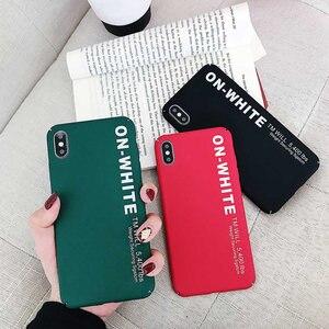 Image 1 - KISSCASE Letter Phone Case For Xiaomi Redmi Note 7 6 5 Pro Pocophone F1 Mi8 Mi A2 Lite 6X 5X A1 Mi9 SE Hard PC Back Cover