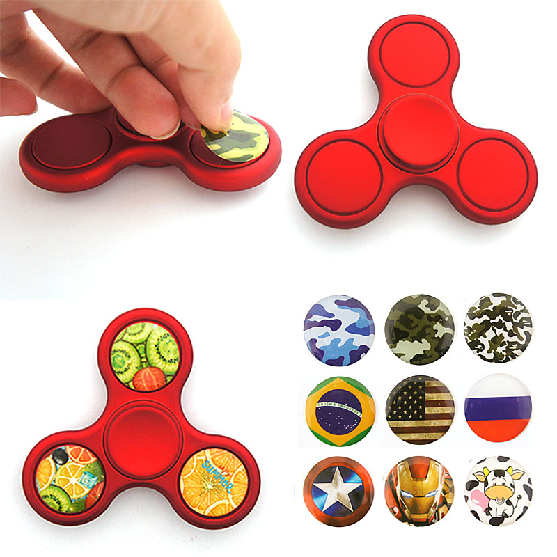 Cool Fidget Toys : Diy fidget spinner hand toys with stickers