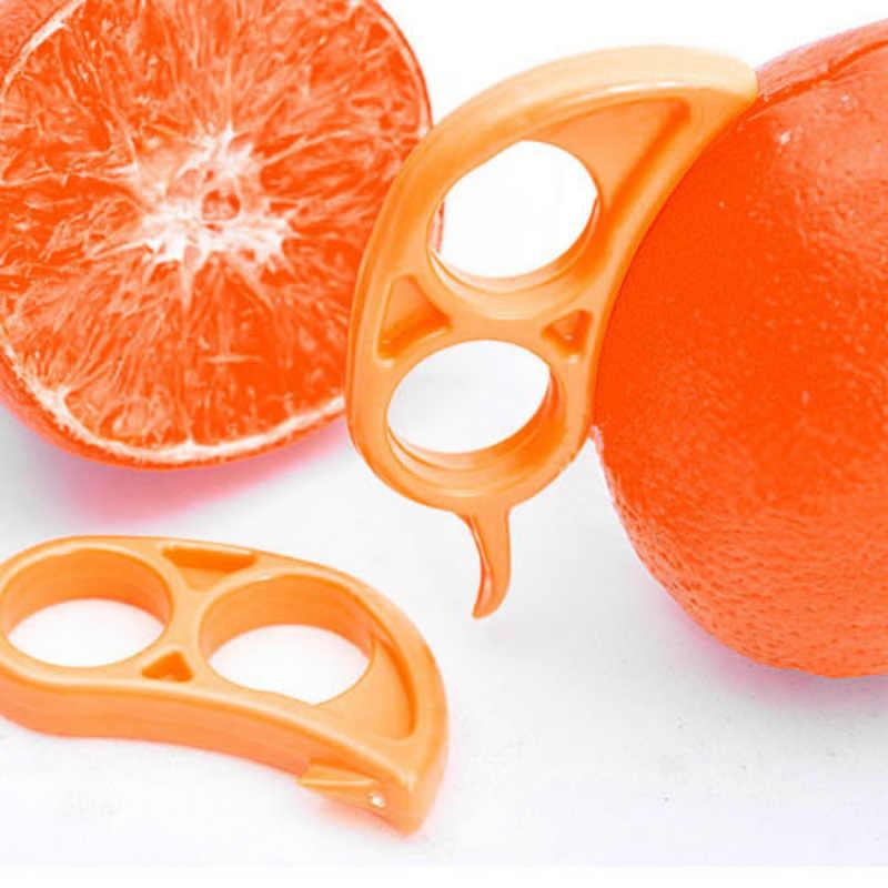 1Pcs Kreatif Oranye Pengupas Lemon Alat Pemotong Buah Stripper Mudah Pembuka Jeruk Pisau Dapur Gadget