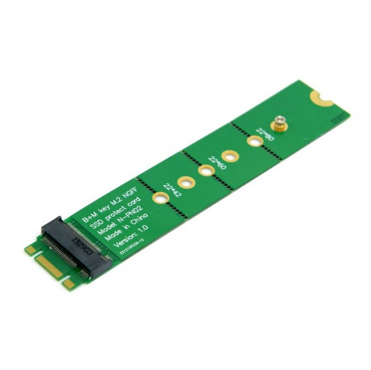 PCI-E 2 Lane M.2 B+M key NGFF 42mm 60mm 80mm SSD Male to Female Extension Adapter Add on Cards PCBA cy u3 159 usb 3 0 to m 2 ngff pci e 2 lane 30mm 42mm 60mm 80mm ssd enclosure for e431 e531 x240