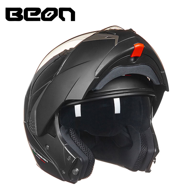BEON Modular Motorcycle Helmet Flip up Open Full Face Helmet Moto Casque Casco Motocicleta Capacete Dual
