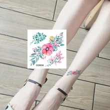 Black Triangle Rose Flower Temporary Tattoo Summer Feather Birds Tattoo Stickers Women Party Waterproof Tatto Girls Body Arm Art(China)