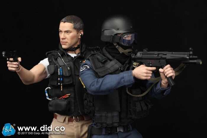"DID MA1003 1//6 Scale SWAT Speed MP5 Set Model for 12/"" Figure"