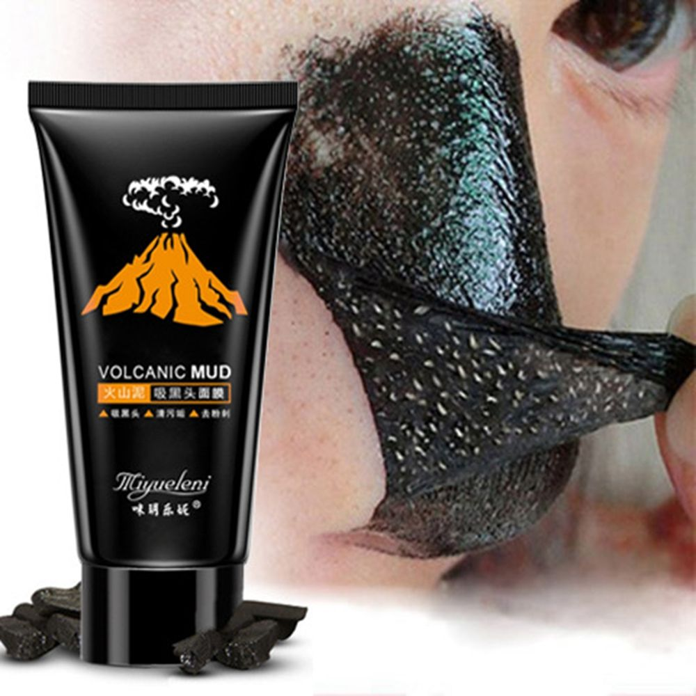 Diy Volcanic Acne And Skin Cleansing Face Mask: 1 PC Volcanic Black Mud Face Mask Blackhead Remover Deep