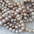 Encantos púrpura de agua dulce natural perla de los granos flojos mujeres hermosas aprox ronda 7-8mm fine jewelry making 15 pulgadas B1366