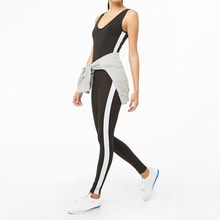 Gym Fitness Jumpsuits Sleeveless Women Summer Runway Rompers Ladies Sport Overalls Jumpsuit Casual Broadcloth Overall Leotard(China)