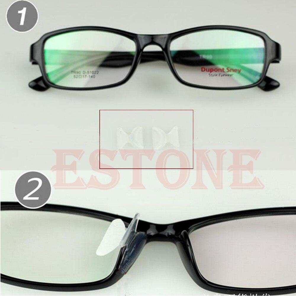 Einfach 5 Pairs Unisex Schwarz Klar Brillen/sonnenbrille Brille Anti-slip Silikon Stick Auf Nose Pad Accessoires Herren-brillen
