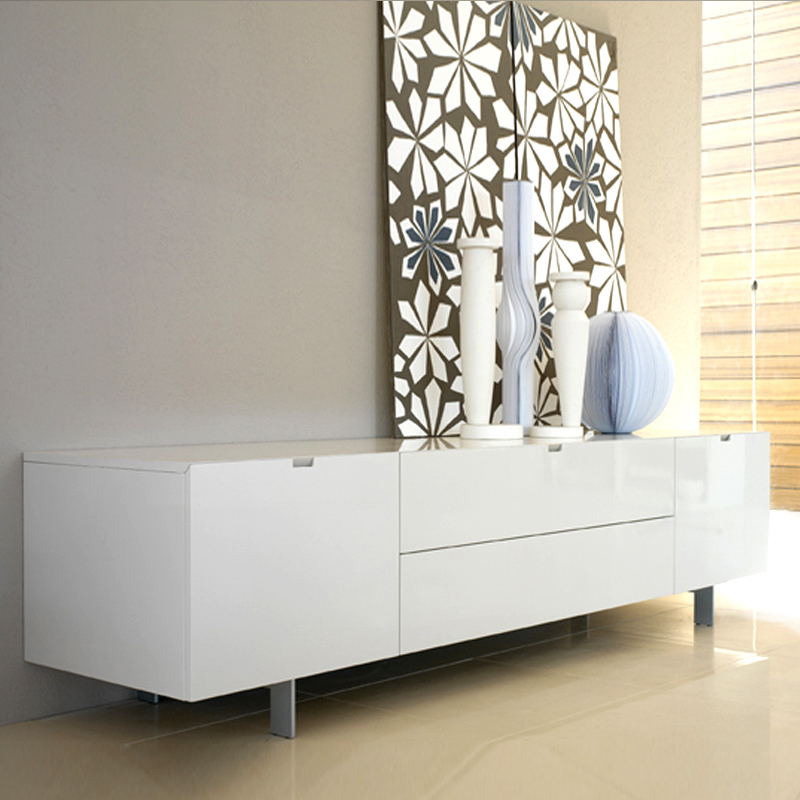 Half Of Nordic Minimalist Living Room TV Cabinet Paint Lockers Milan Modern Designer Furniture