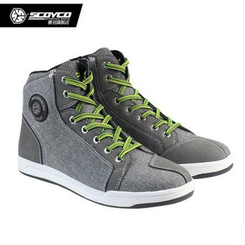 2017 SCOYCO Motorcross Motorcycle Boots Men Casual Road Shoes Antiskid Wear Kinght Riding Racing Boots motorcycle riding shoes men s waterproof spring anti falling knights boots cross country racing shoes road locomotive boots