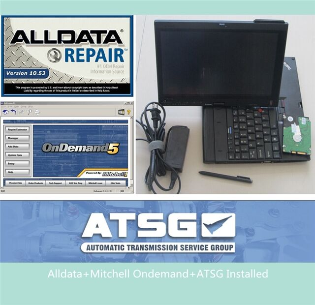 Installed well 2017 alldata and mitchell software v10.53 with ATSG 3in1 in x201t tablet (4g ram, i7 cpu) auto repair software